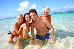 Hire a car in Martinique - take your family to the beach